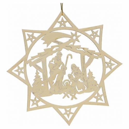 Decoraci n navidad estrella rbol con pesebre made venta - Estrella para arbol de navidad ...