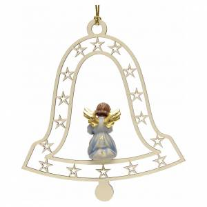 Décorations sapin bois et pvc: Décoration Noël ange avec trompette cloche