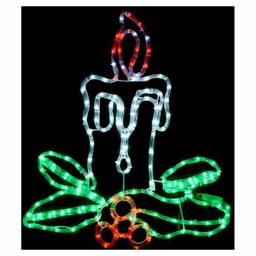 Decorazione natalizia candela 168 led esterno s2