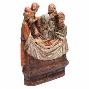 Bassorilievi pietra: Deposizione 38 cm pietra dei Pirenei Bethléem