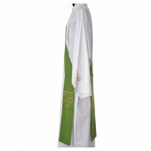 Diaconal stole in polyester with IHS and cross symbols s7