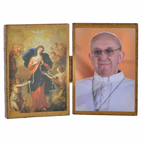Diptyque Pape François et Notre Dame des noeuds s1