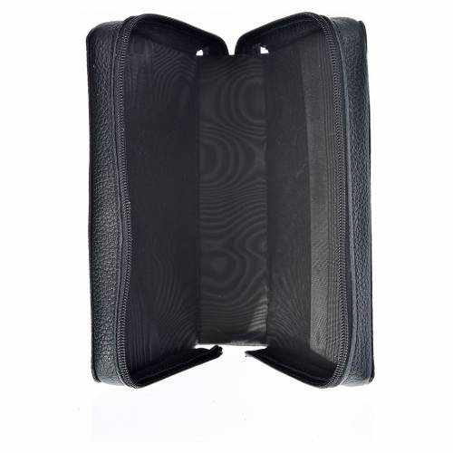 Divine Office cover black leather Our Lady of Kiko s3