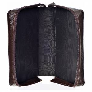 Divine Office covers: Divine office cover dark bonded leather Our Lady of the Tenderness