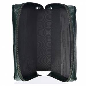 Divine Office covers: Divine office cover green bonded leather Holy Family