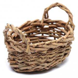 Home accessories miniatures: DIY nativity scene wicker basket for laundry 4x9x7 cm