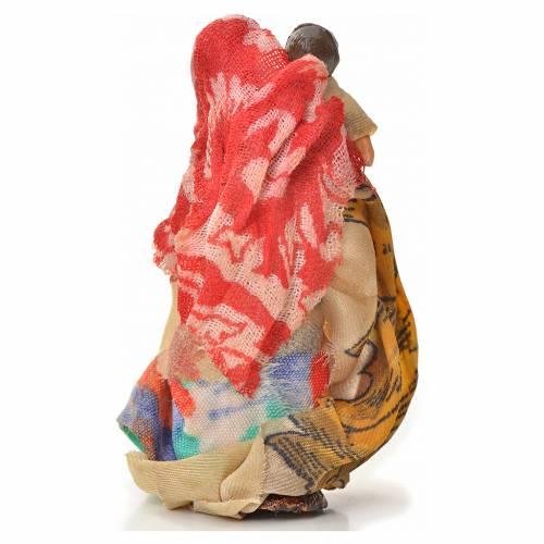 Donna bambino in braccio 6 cm presepe napoletano s2