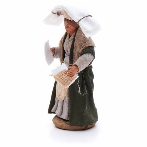 Donna con fazzoletti 10 cm presepe napoletano s2