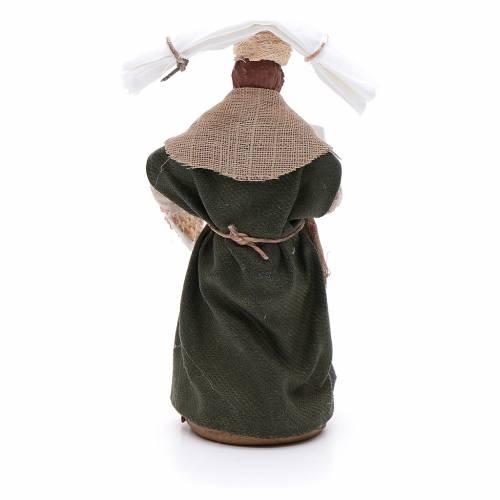 Donna con fazzoletti 10 cm presepe napoletano s3