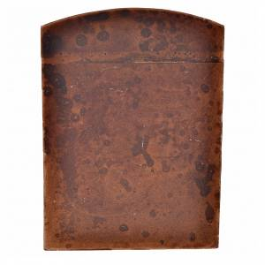 Balustrade, doors, railings: Door in plaster, wood colour for do-it-yourself nativities