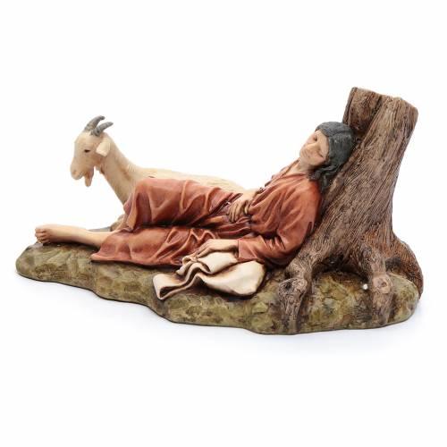 Dormente con capra 15 cm resina Moranduzzo s3