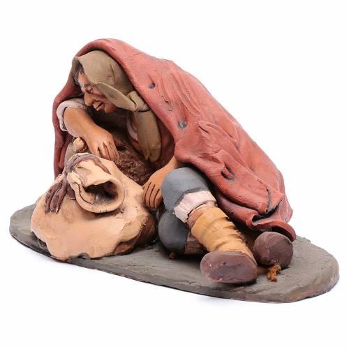 Dormiente 30 cm in terracotta di Deruta s2