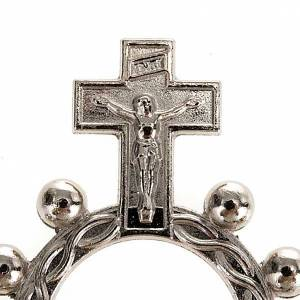 Obrączki z modlitwą: Dziesiątka różańca scout posrebrzany pozłacany