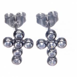Earrings AMEN Boules zircons, Rhodium s2