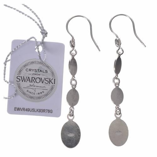 Earrings in 800 silver and black Swarowski, Lourdes s2