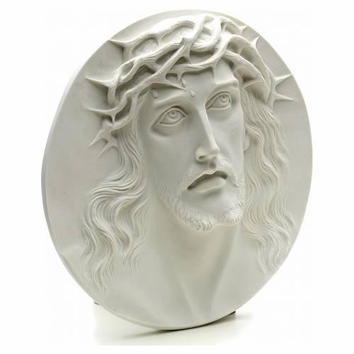 Ecce Homo redondo en relieve mármol sintético s2
