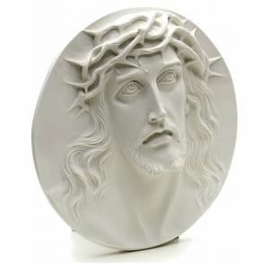 Ecce Homo tondo in rilievo marmo sintetico 15-20-30 cm s2