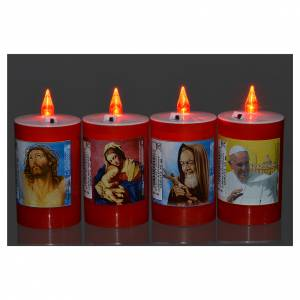 Votive candles: Electric votive candle in red plastic, lasting 40 days