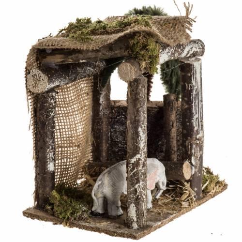 Elefante sotto la tenda ambientazione 8-10 cm s3