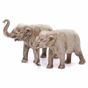 Elefantes surtidos, 2 pdz, para belén de Moranduzzo con estatuas de 3,5 cm s1