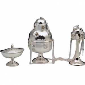Encensoir et navette argent 800 modèle simple s1