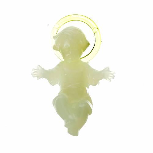 Enfant Jésus plastique fluorescent 4cm s1