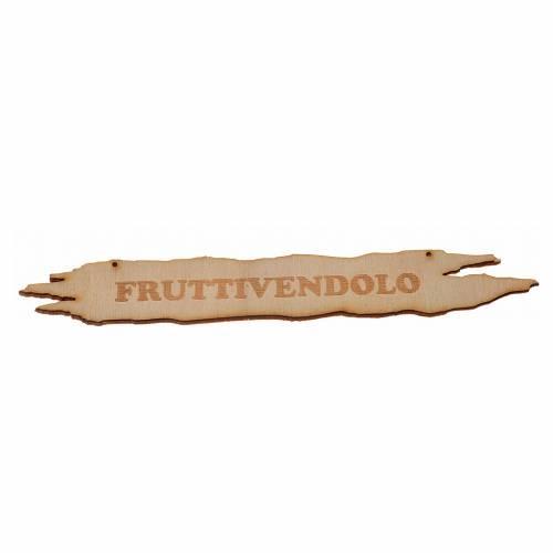 Enseigne crèche Marchand de fruit 14 cm bois s1