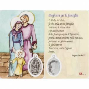 Estampas Religiosas: Estampa Sagrada Familia plastificaco con oración