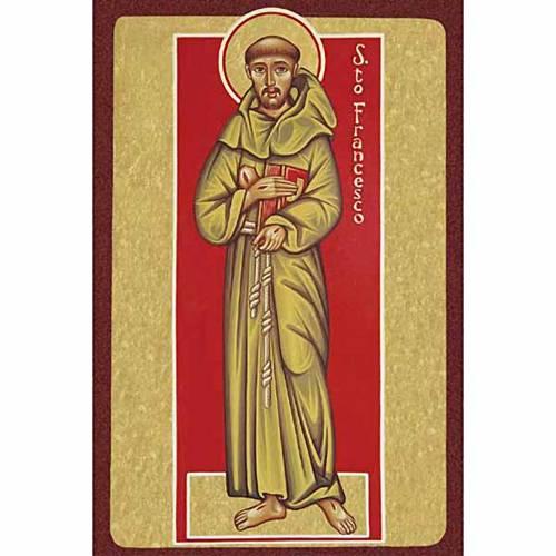 Estampe Saint François de Assisi avec livre s1