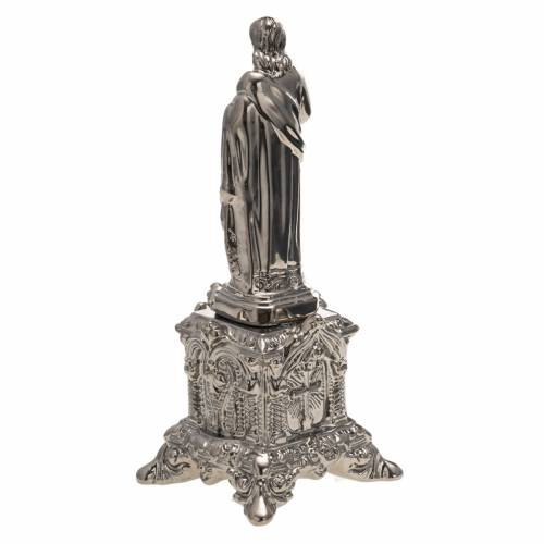 Estatua Cerámica platino Sagrado Corazón Jesus sob s4