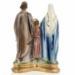Estatua Sagrada Familia 30cm. yeso nacarado s4