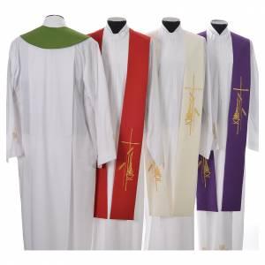 Estolas: Estola 100% poliéster cruz estilizada y espigas