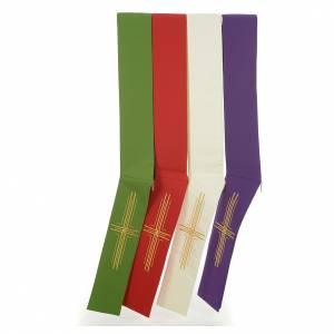 Etole diaconale croix polyester s1