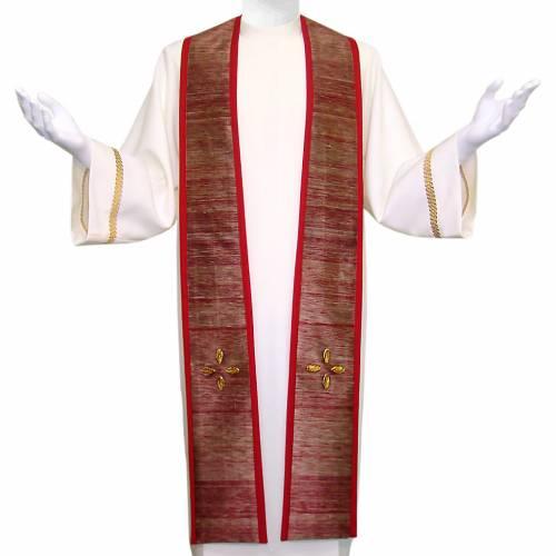 Etole liturgique croix verres de Murano laine et soie s1