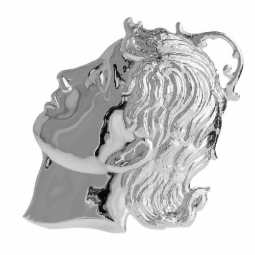 Ex-voto, child's head in sterling silver or metal 12cm s1