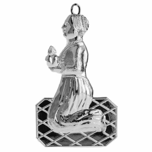 Ex voto donna in ginocchio argento 925 o metallo 12 cm s1