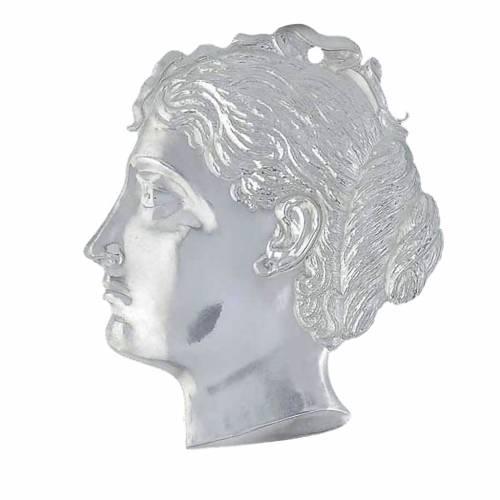 Ex voto testa di donna argento 925 o metallo 15 cm s1