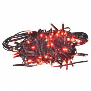 Christmas lights: Fairy lights 120 mini LED, red, for outdoor/indoor use, programm
