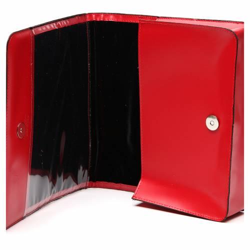Farde pour partitions chants cuir rouge s6