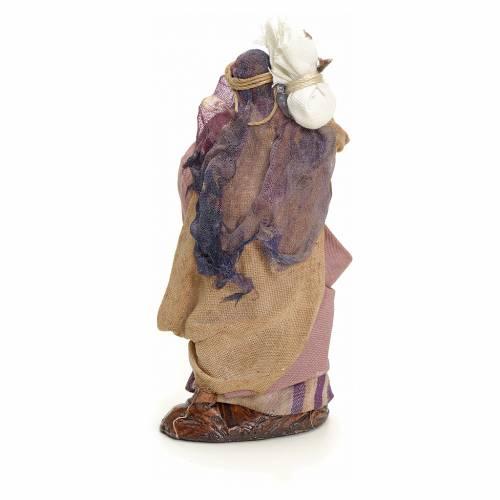 Femme arabe avec son sac crèche Napolitaine 8 cm s3