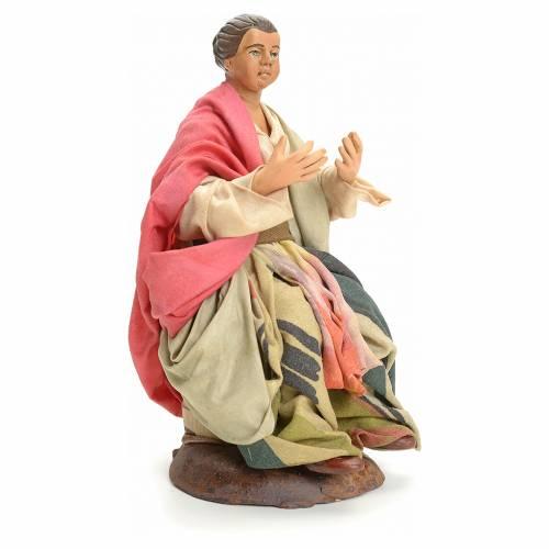 Femme assise crèche Napolitaine 18 cm s2