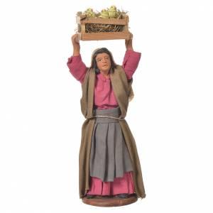 Femme avec caisse de poussins 12 cm crèche Naples s1
