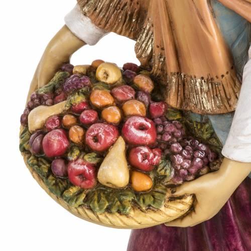 Femme avec fruits crèche Fontanini 65 cm résine s2