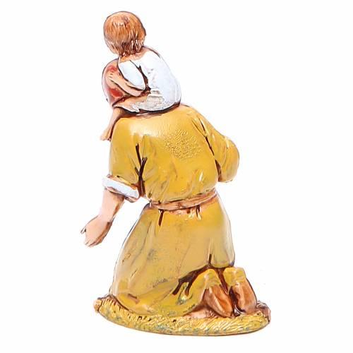 Femme en adoration avec enfant 6,5 cm Moranduzzo style historique s2