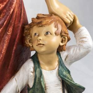 Femme et enfant crèche Fontanini 125 cm résine s3