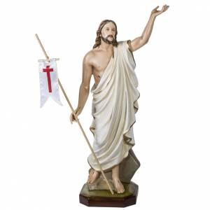 Fiberglas Statuen: Fiberglas Auferstandener Christus 100 cm