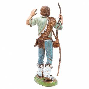 Figura pastor con bastón 12 cm Moranduzzo estilo clásico s2