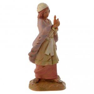 Fille avec sa lampe crèche Fontanini 12 cm s2