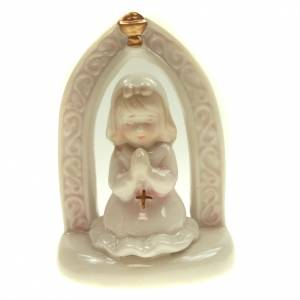 Fille en prière première communion céramique 11cm s1