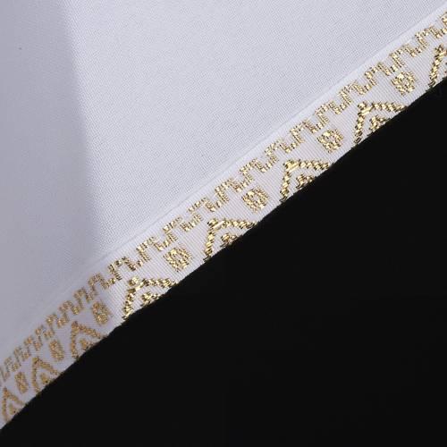 First communion alb for girl golden sleeves edge s4